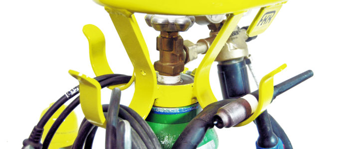 FKR-Schutzbügel auf einer Gasflasche